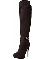 cheap -Women's Shoes Fleece / Leatherette Stiletto Heel Fashion Boots Boots Office & Career / Party & Evening / Dress Black