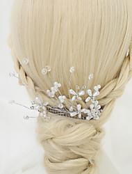 imitação de cristal pérola liga penteado penteado estilo elegante