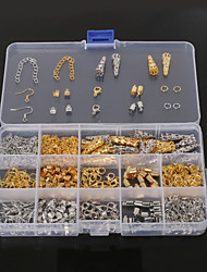 cheap -Beadia 1Set Jewelry Findings Lobster Clasp&End Cap&Jump Rings&Crimp Beads&Extension Chain (Aprx 800Pcs)