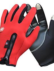 Gloves Sports Gloves Women's / Men's Cycling Gloves Autumn/Fall / Winter Bike GlovesKeep Warm / Anti-skidding / Waterproof / Breathable /