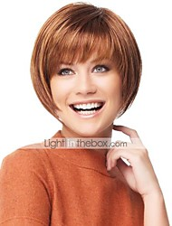 cheap -Human Hair Capless Wigs Human Hair Straight Bob Haircut With Bangs Short Capless Wig Women's