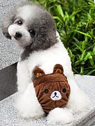 baratos -Gato Cachorro Fantasias Roupa Calças Roupas para Cães Desenho Animado Amarelo Marron Rosa claro Algodão Ocasiões Especiais Para animais