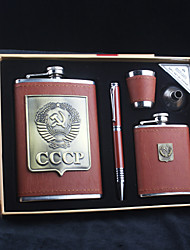 cheap -Stainless Steel Hip Flasks Groom Groomsman Parents Wedding Anniversary Birthday Congratulations Graduation Thank You Business