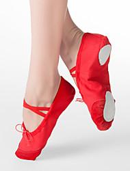 cheap -Women's Kids' Ballet Fabric Flat Flat Heel Black White Red Pink Non Customizable