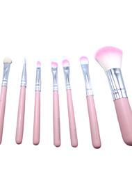 6Pennello per cipria / Pennello per ombretto / Pennello sopracciglia / Pennello applicatore per eyeliner / Pennello mascara liquido /