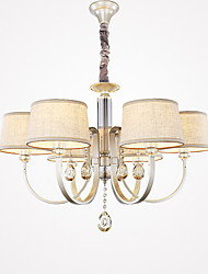cheap -Chandelier ,  Country Painting Feature for Crystal Metal Living Room Bedroom Dining Room