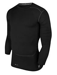 Homens Camiseta de Corrida Manga Longa Secagem Rápida Compressão Materiais Leves Blusas para Exercício e Atividade Física Corridas