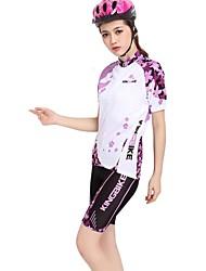 Kingbike Cyklodres a kraťasy Dámské Krátké rukávy Jezdit na kole Dres Kraťasy Sady oblečení Rychleschnoucí Nositelný Prodyšné Zadní kapsa