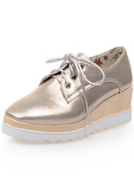 Women's Shoes Platform Comfort / Square Toe Oxfords Outdoor / Office & Career / Dress / Casual Black / Silver / Gold