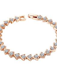 abordables -pulsera de cadena de las mujeres aleación zirconia cúbica estilo femenino clásico