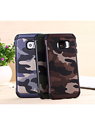 cheap -Case For Samsung Galaxy Samsung Galaxy Case Shockproof Back Cover Camouflage Color PC for S6 edge plus / S6 edge / S6