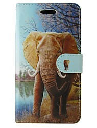 cheap -Case For Huawei P8 Other Huawei Huawei P8 Lite P8 Lite P8 Huawei Case Card Holder Wallet with Stand Full Body Cases Elephant Hard PU