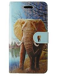 economico -Custodia Per Samsung Galaxy Samsung Galaxy Custodia A portafoglio / Porta-carte di credito / Con supporto Integrale Elefante pelle sintetica per Trend Lite / Trend Duos / Grand Prime