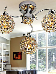cheap -Modern/Contemporary Crystal Flush Mount Ambient Light For Bedroom Dining Room Hallway Warm White 110-120V 220-240V Bulb Not Included