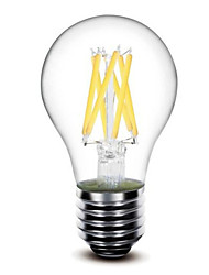 cheap -5W E26/E27 LED Filament Bulbs G60 6 COB 500lm Warm White 2700K Dimmable AC 220-240 AC 110-130V