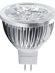 cheap -4W GU5.3(MR16) LED Spotlight MR16 5 High Power LED 400-450lm Warm White Cold White 3000K/6500K Decorative DC 12V