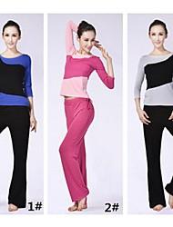 economico -Yoga Set di vestiti Traspirante Materiali leggeri Anelastico Abbigliamento sportivo Per donna Yoga Pilates Esercizi di fitness Attività