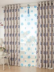 Недорогие -2 шторы Окно Лечение Современность Гостиная Полиэстер материал Шторы занавески затемнения Украшение дома For Окно