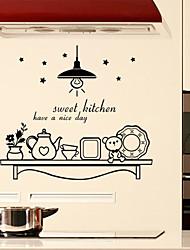 cuisine sucrée mur autocollants mur style décalcomanies mots anglais&cite muraux PVC autocollants
