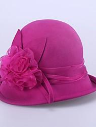 baratos -Capacete Chapéus Casamento / Ocasião Especial / Ao ar Livre Lã Mulheres Casamento / Ocasião Especial / Ao ar Livre 1 Peça
