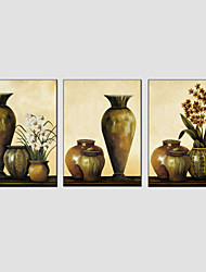 cheap -Oil Painting Set of 3 Modern Still Life ,Canvas Material with Stretched Frame Ready To Hang SIZE:50*70CM*3PCS .