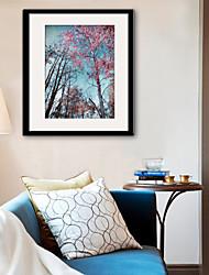 abordables -Toile Encadrée Set de Cadres Paysage Loisir Botanique Art mural, PVC Matériel Avec Cadre Décoration d'intérieur Cadre Art Salle de séjour