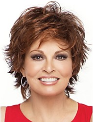 cheap -Natural Light Brown Straight Short Wig For Woman Fashion Wig