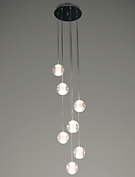 cheap -UMEI™ 7-Light Cluster Pendant Light Ambient Light - Crystal, LED, 90-240V, Warm White, Bulb Included / G4 / 5-10㎡