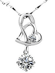 cheap -Women's Love Pendant Sterling Silver Crystal Pendant , Daily Casual Sports