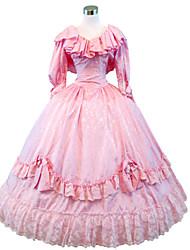 cheap -Gothic Lolita Dress Steampunk® Victorian Lace Satin Women's Dress Cosplay Poet Sleeve Long Sleeve Long Length Halloween Costumes