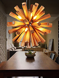 cheap -Pendant Lights LED / Bulb Included Country Living Room / Bedroom / Dining Room / Study Room/Office Wood/Bamboo