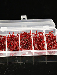 cheap -150Pcs/Box 3.7cm/0.23g Emulational Bloodworm Soft Fishing Lures Packing in Plastic Box