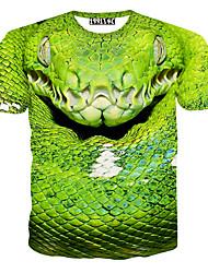 MEN - T-shirt - Informale / Stampa / Feste Rotondo - Pantaloncini Misto cotone