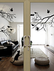 cheap -Window Stickers Window Decals Style Birds on The Tree PVC Door stickers