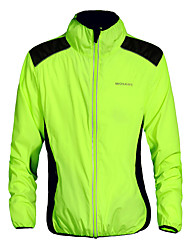 cheap -WOSAWE Unisex Cycling Jacket Bike Jacket / Top Quick Dry, Windproof, Breathable Green Bike Wear / Reflective Strips