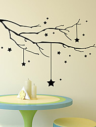 cheap -Wall Stickers Wall Decals Style Star Tree Branch PVC Wall Stickers