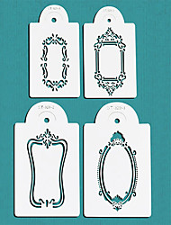 cheap -Photo Frames Cake Stencil Set,Cake Top Stencil Decoration,Cake Side Decorating Stencils,ST-329