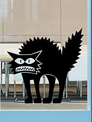 autoadesivi della parete di stile muro decalcomanie adesivi murali di Halloween thriller di gatto in pvc