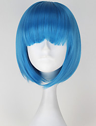 cheap -Cosplay Wigs Cosplay Cosplay Blue Short Anime Cosplay Wigs 30 CM Heat Resistant Fiber Female