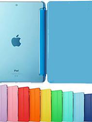 Недорогие -Кейс для Назначение iPad Air iPad Air / iPad 4/3/2 / iPad Mini 3/2/1 Один цвет / Защита от удара / Флип Чехол Сплошной цвет Твердый Кожа PU / iPad Pro 10.5 / iPad (2017)