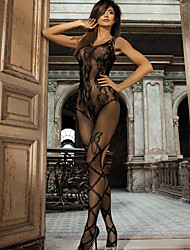 Women's Seductive Floral Lace Suspender Crotchless Bodystocking Nightwear