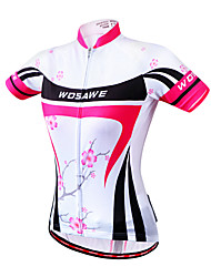 cheap -WOSAWE Women's Short Sleeve Tankini / Cycling Jersey Floral / Botanical Bike Jersey, Quick Dry, Anatomic Design, Breathable