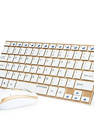 2.4GHz Mini Slim Aluminum Wireless Keyboard And Optical Mouse With USB Nano Receiver For Windows 7/8 Vista XP PC