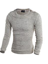Lungo Pullover Da uomo-Casual Animal Rotonda Manica lunga Cotone Autunno Inverno Medio spessore Media elasticità