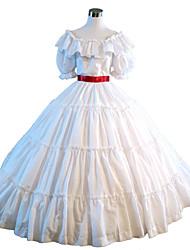 cheap -Gothic Lolita Dress Steampunk® Victorian Lace Satin Women's Dress Cosplay White Short Sleeve Long Length Halloween Costumes