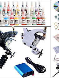 Machine à tatouer kit complet set machines 20pcs tatouage encres kits de tatouage
