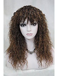 cheap -Synthetic Wig Curly With Bangs Synthetic Hair With Bangs Wig Women's Long Capless