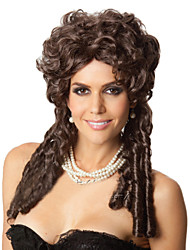 Factory Wholesale Ms Brown Curly Hair Wig In Europe And America Snapping Up Long Curly Wig Hair