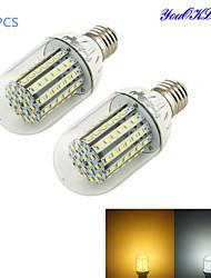 economico -6W E26/E27 LED a pannocchia T 90 leds SMD 3528 Decorativo Bianco caldo Luce fredda 450-500lm 3000/6000K DC 12V