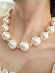 Women's Strands Necklaces Pearl Necklace Pearl Imitation Pearl Rhinestone Imitation Diamond Alloy Bridal Costume Jewelry Jewelry For